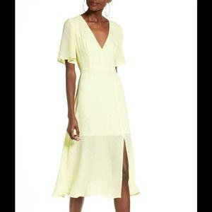 Nordstrom Flutter Sleeve Midi Dress